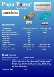 Specification: Requirements: - Connicks Consultancy