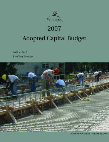 2007 Adopted Capital Budget