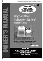 Krystal Clear Saltwater System - Intex Development Company Limited