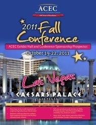 ACEC Exhibit Hall and Conference Sponsorship Prospectus