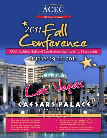 ACEC Exhibit Hall and Conference Sponsorship Prospectus
