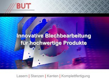Blech - BUT Blech- und Tortechnik GmbH