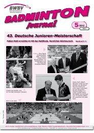5/2012 - Baden - Württembergischer  Badminton - Verband