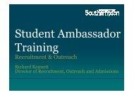 Recruitment & Outreach - University of Southampton