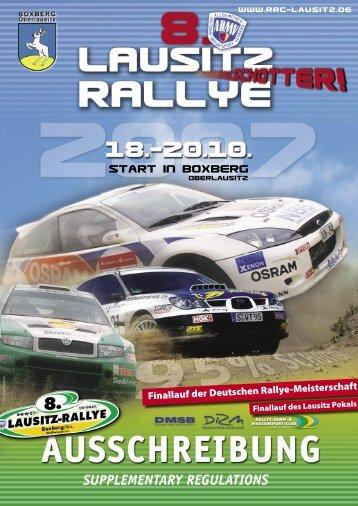 supplementary regulations - Rallye-Renn-& Wassersport-Club ...