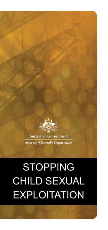 Stopping child exploitation brochure