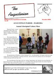 December - The Augustinians in Australia