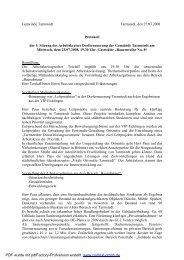 Protokoll 5. Sitzung Arbeitskreis
