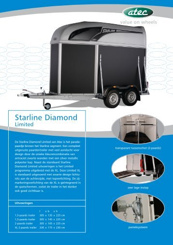 Starline Diamond - Paardentrailer.nl