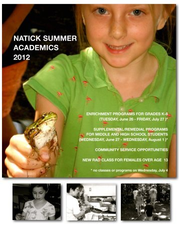 NSA Brochure 2012 Final - Natick Public Schools