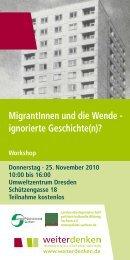 MigrantInnen und die Wende - Landesarbeitsgemeinschaft politisch ...