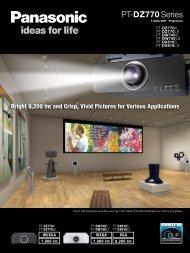 Panasonic PT-DW740ELS Brochure