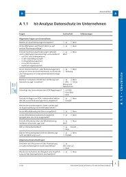 A 1.1 Ist-Analyse Datenschutz im Unternehmen