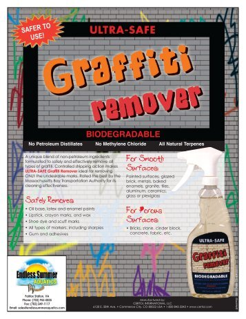 ULTRA-SAFE Graffiti Remover - Endless Summer Aquatics