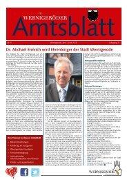 Amtsblatt Stadt Wernigerode 05 - 2013 (5.69 MB)