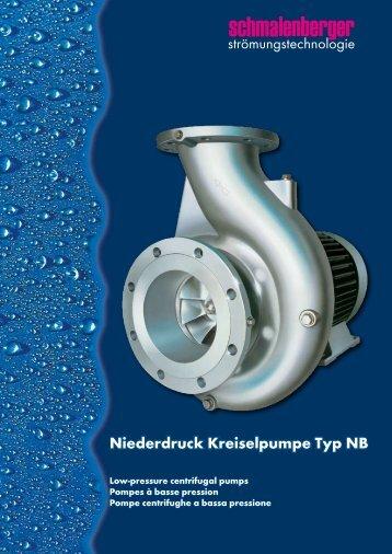 Niederdruck Kreiselpumpe Typ NB - Schmalenberger