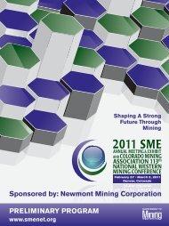 PRELIMINARY PROGRAM Sponsored by: Newmont Mining ... - SME