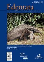 Edentata 11(1) - Anteater, Sloth & Armadillo Specialist Group