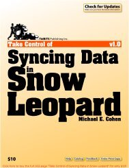 Take Control of Syncing Data in Snow Leopard (1.0) SAMPLE