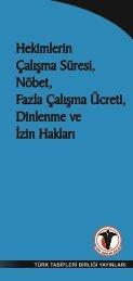 calisma suresi.indd - Türk Tabipleri Birliği