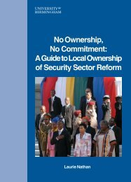 second edition - LOCAL OWNERSHIP OF SECURITY SECTOR ...