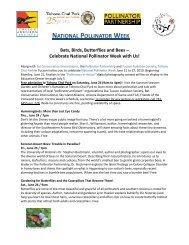 a printable PDF flyer on the Arizona events. - Pollinator Partnership