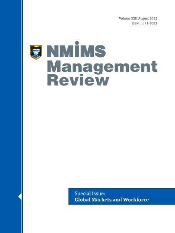 NMIMS Management Review, Special Issue on Global Markets and ...