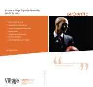 corporate brochure - Village Health Clubs