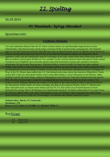 22. Spieltag - SV Moosbach