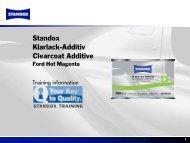 Training applicativo - Standox