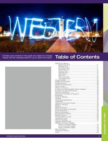student - Academic Calendar - University of Western Ontario