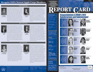 Congratulations to MISD's 2012 Valedictorians and ... - Mesquite ISD