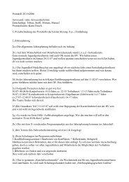 Protokoll 26.10.2006 Anwesend: siehe Anwesenheitsliste ...