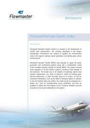 Honeywell Normalair Garrett integrate Flowmaster with their data ...