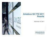Amadeus Q3 YTD 2011 Results - Investor relations at Amadeus