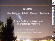 BRAMS : the Belgian RAdio Meteor Stations