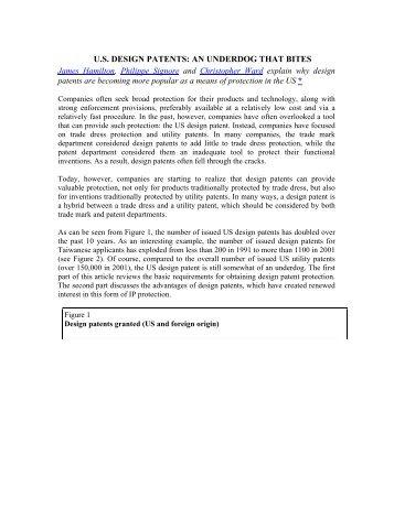 us design patents: an underdog that bites - Oblon Spivak ...