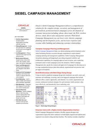 Siebel Marketing (PDF) - Oracle