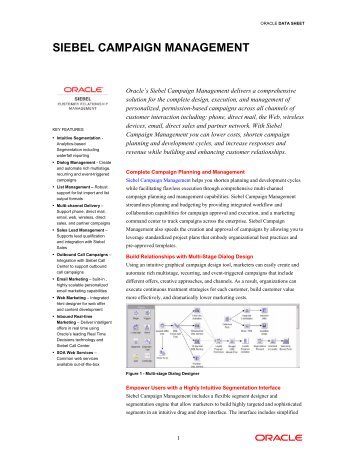 Siebel Marketing (PDF) - Oracle