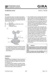 Combination sensor Installation Instructions - Gira