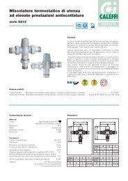 Miscelatore termostatico di utenza ad elevate prestazioni  - Caleffi