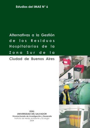Estudios del IMAE N.6-bloques.pmd - Universidad del Salvador