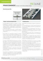 Produktdatenblatt 211 PROCONNEX Edelstahl - Proline Systems