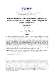 Understanding the Contributions of Reallocation to Productivity Growth