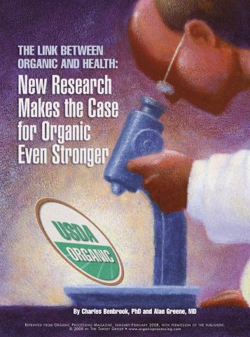 """Organic Processing Magazine"" Cover Story, January-February 2008"