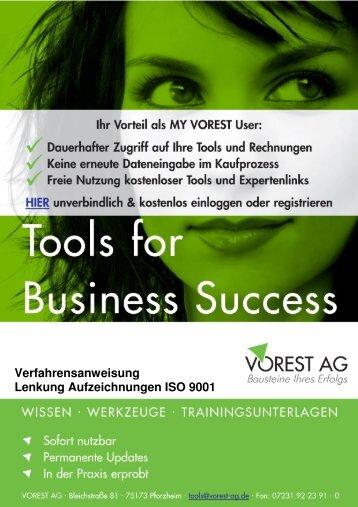VA Lenkung von Aufzeichnungen - Vorest AG