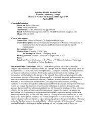 Syllabus HIS 101, Section 17691 Glendale Community College ...