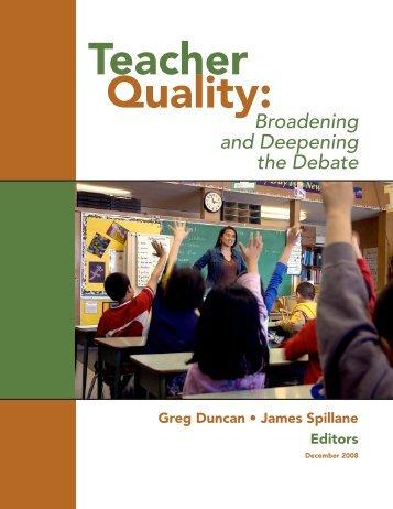 Broadening and Deepening the Debate - School of Education ...