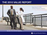 THE 2010 VALUE REPORT - Advocate Health Care