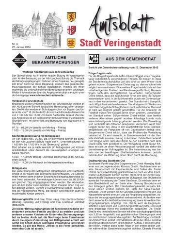 Amtsblatt KW 4 - Veringenstadt